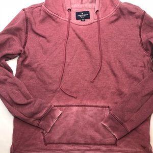 American Eagle vintage fade ombré hood sweatshirt
